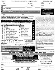 Ticket Order Form 05-14-16